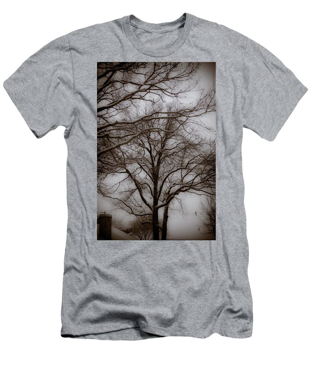 Winter Men's T-Shirt (Athletic Fit) featuring the photograph Snow Day by Jill Smith
