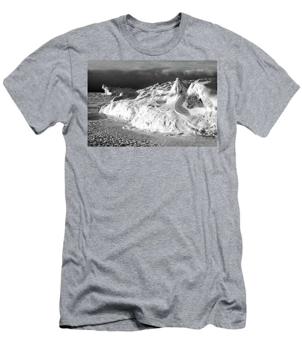 Photography Men's T-Shirt (Athletic Fit) featuring the photograph Snow Squal On Lake Michigan by Frederic A Reinecke