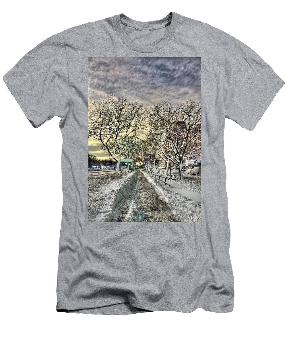 Snow Men's T-Shirt (Athletic Fit) featuring the photograph Snowbound by Evelina Kremsdorf