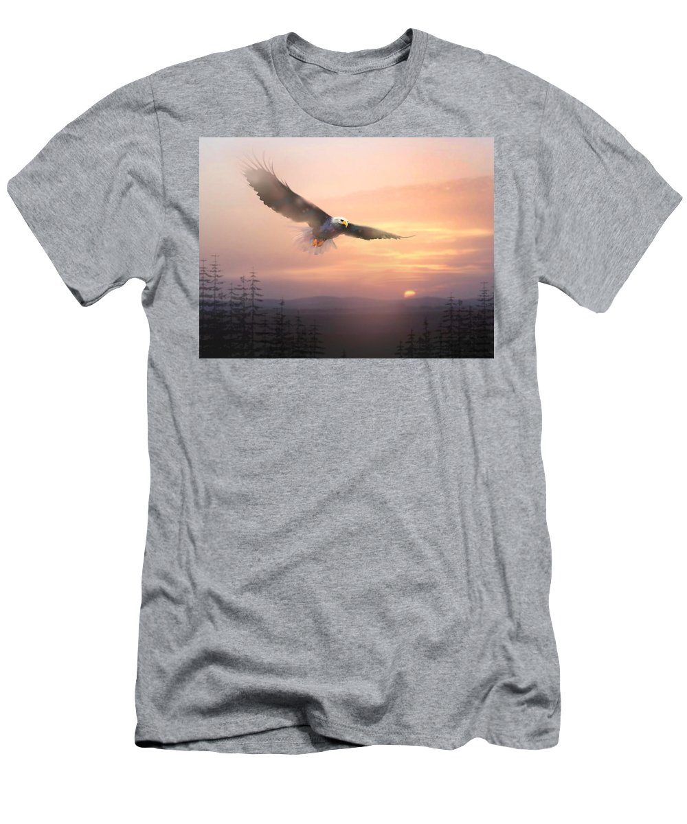 Eagle Men's T-Shirt (Athletic Fit) featuring the painting Soaring Free by Paul Sachtleben