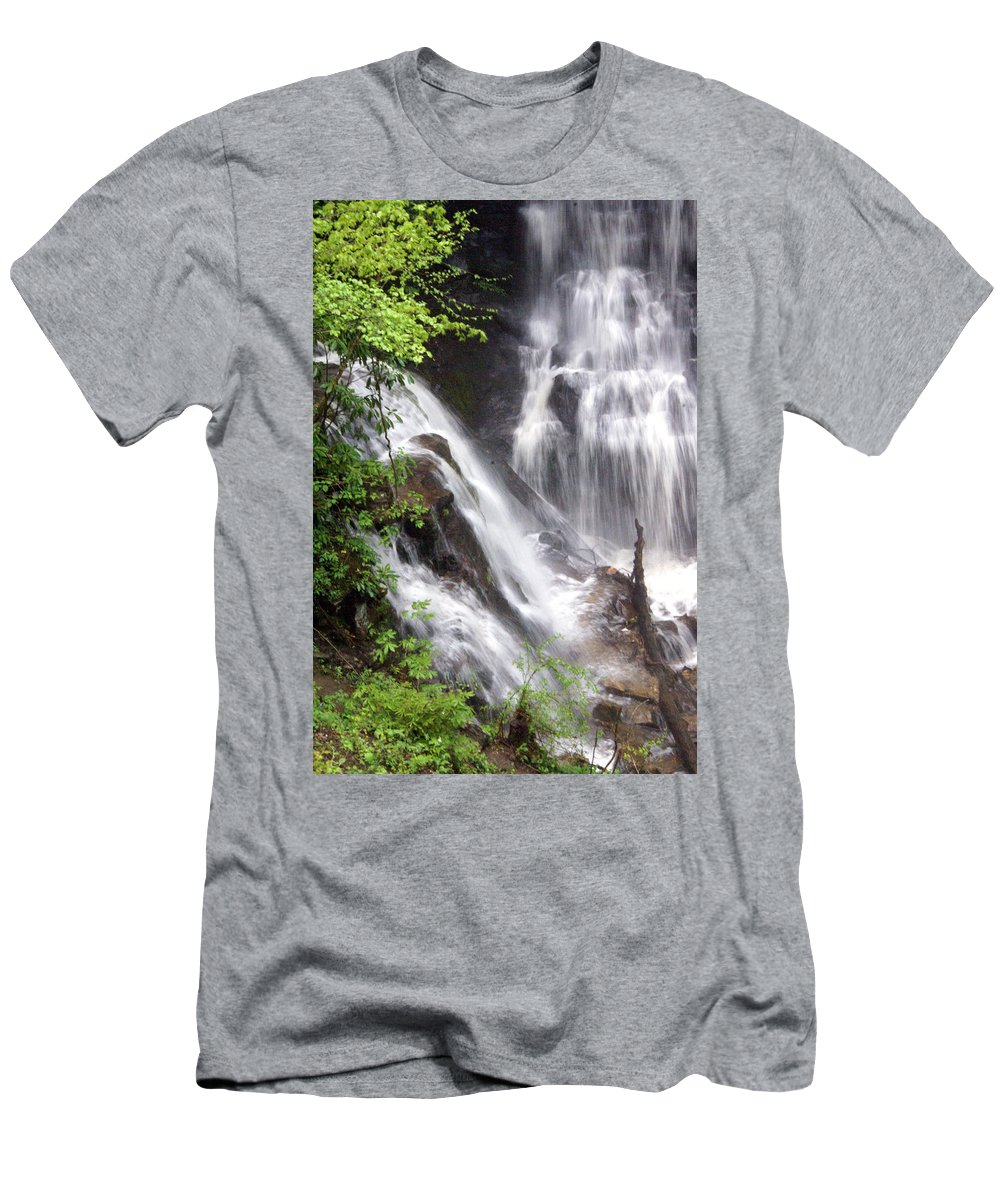 Soco Galls Men's T-Shirt (Athletic Fit) featuring the photograph Soco Falls 2 by Marty Koch