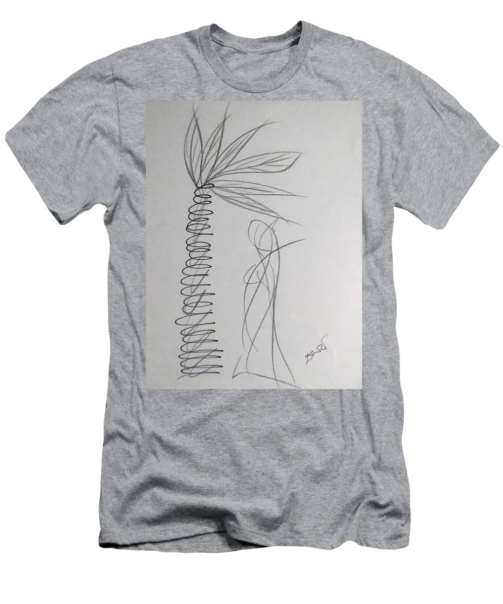 Men's T-Shirt (Athletic Fit) featuring the drawing Solitude by Deepak Thimaya