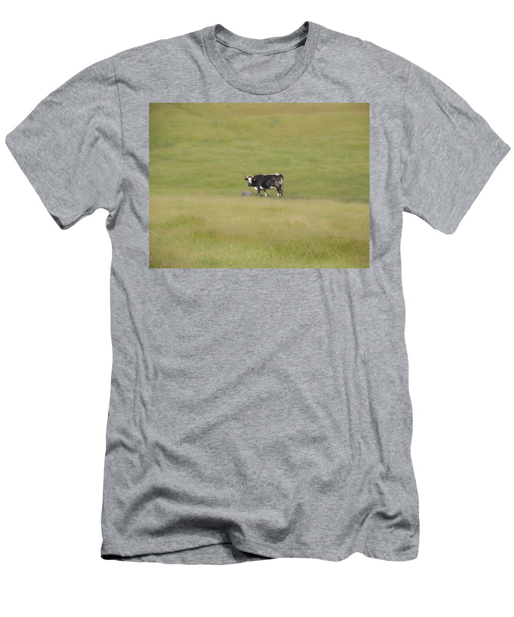Landscapes Men's T-Shirt (Athletic Fit) featuring the photograph Solitude by Karen W Meyer