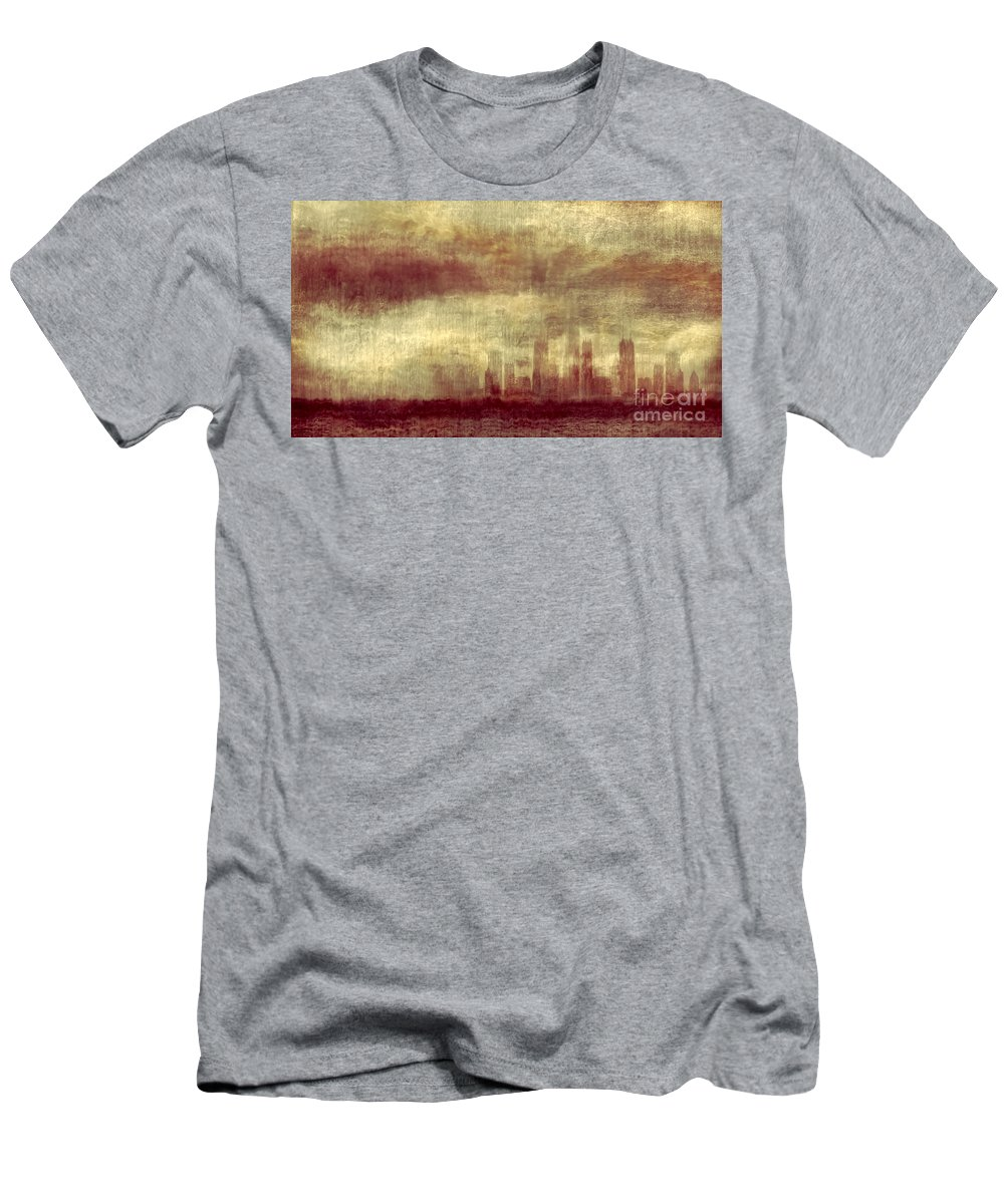 Clouds Men's T-Shirt (Athletic Fit) featuring the photograph Someone To Hold You Beneath Darkened Sky by Dana DiPasquale