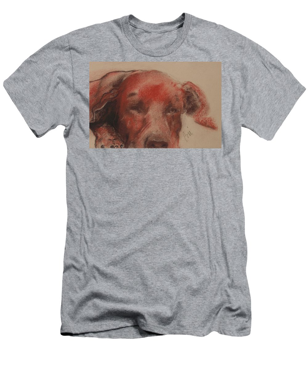 Pastel Men's T-Shirt (Athletic Fit) featuring the drawing Soul Searcher by Cori Solomon