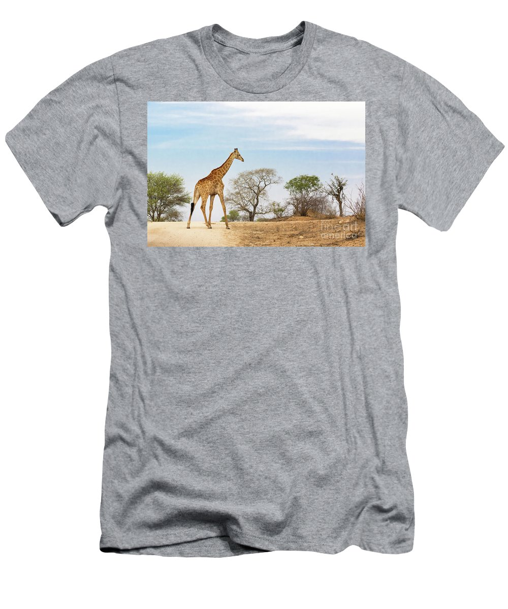 Giraffe Men's T-Shirt (Athletic Fit) featuring the photograph South African Giraffe by Jane Rix