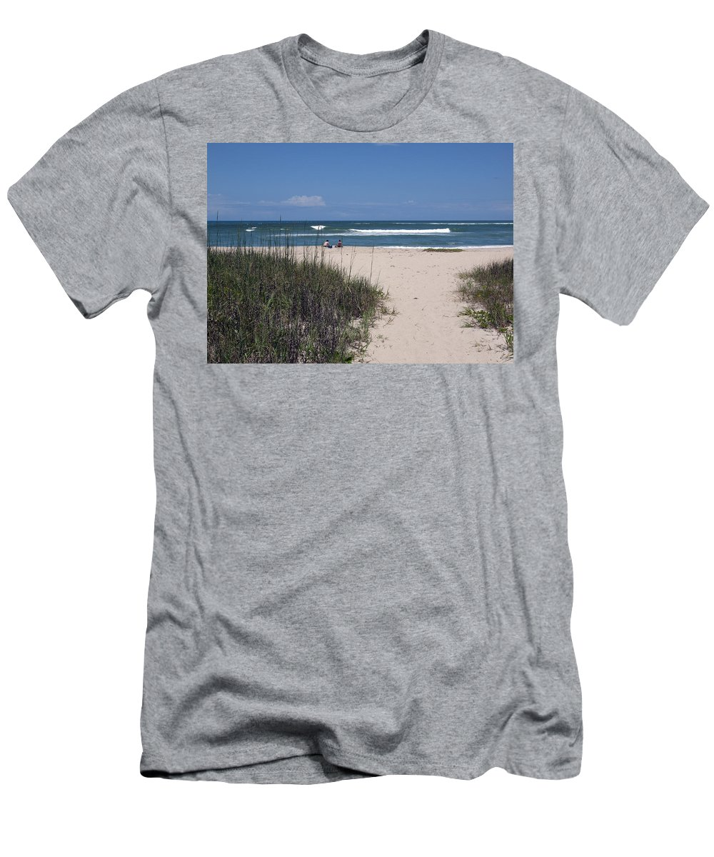 Florida Men's T-Shirt (Athletic Fit) featuring the photograph South Beach by Allan Hughes
