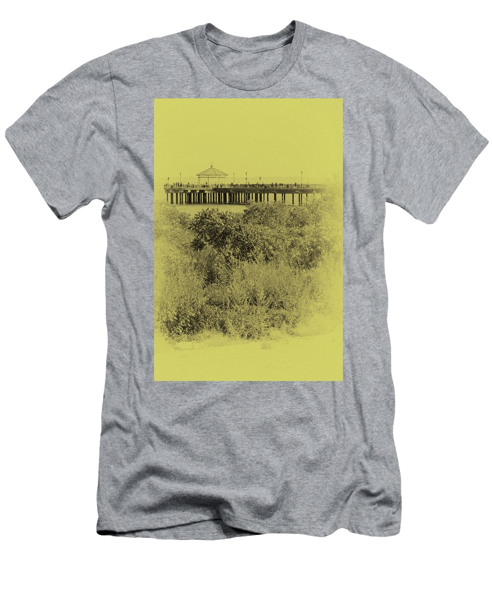 Staten Island Men's T-Shirt (Athletic Fit) featuring the photograph South Beach Pavilion by Cate Franklyn