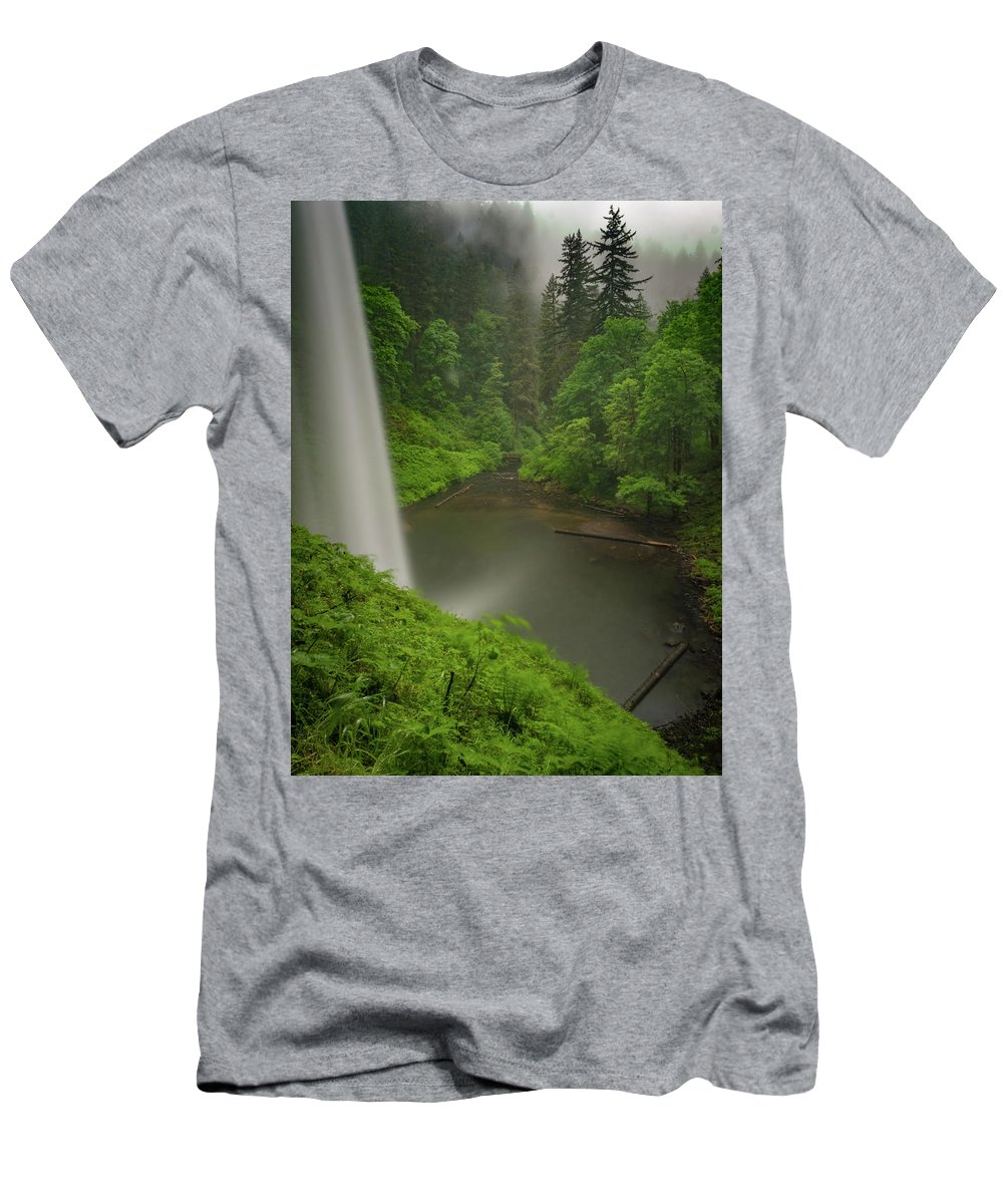 Michele James Photography Men's T-Shirt (Athletic Fit) featuring the photograph South Falls Vista by Michele James