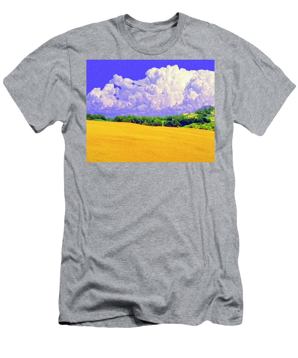 Wheat Field Men's T-Shirt (Athletic Fit) featuring the painting South Forty by Dominic Piperata