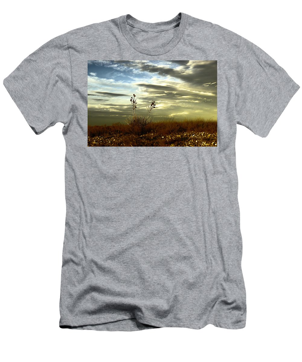 Sky Men's T-Shirt (Athletic Fit) featuring the photograph Southeastern New Mexico by Jeff Swan
