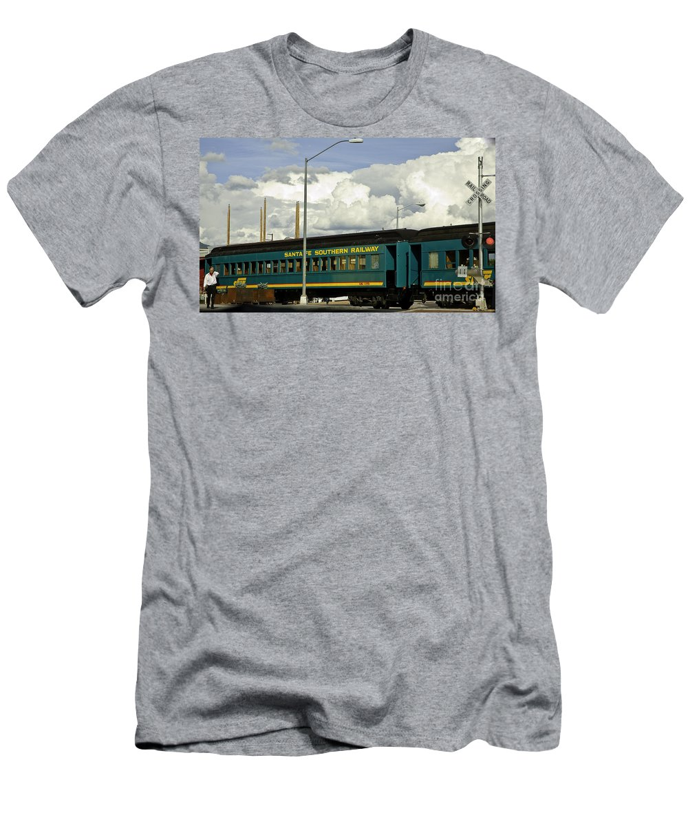 Rail Men's T-Shirt (Athletic Fit) featuring the photograph Southern Railway by Madeline Ellis