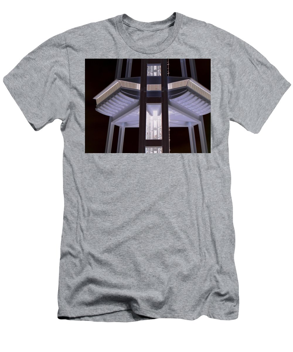 Seattle Men's T-Shirt (Athletic Fit) featuring the photograph Space Needle Base by Maro Kentros