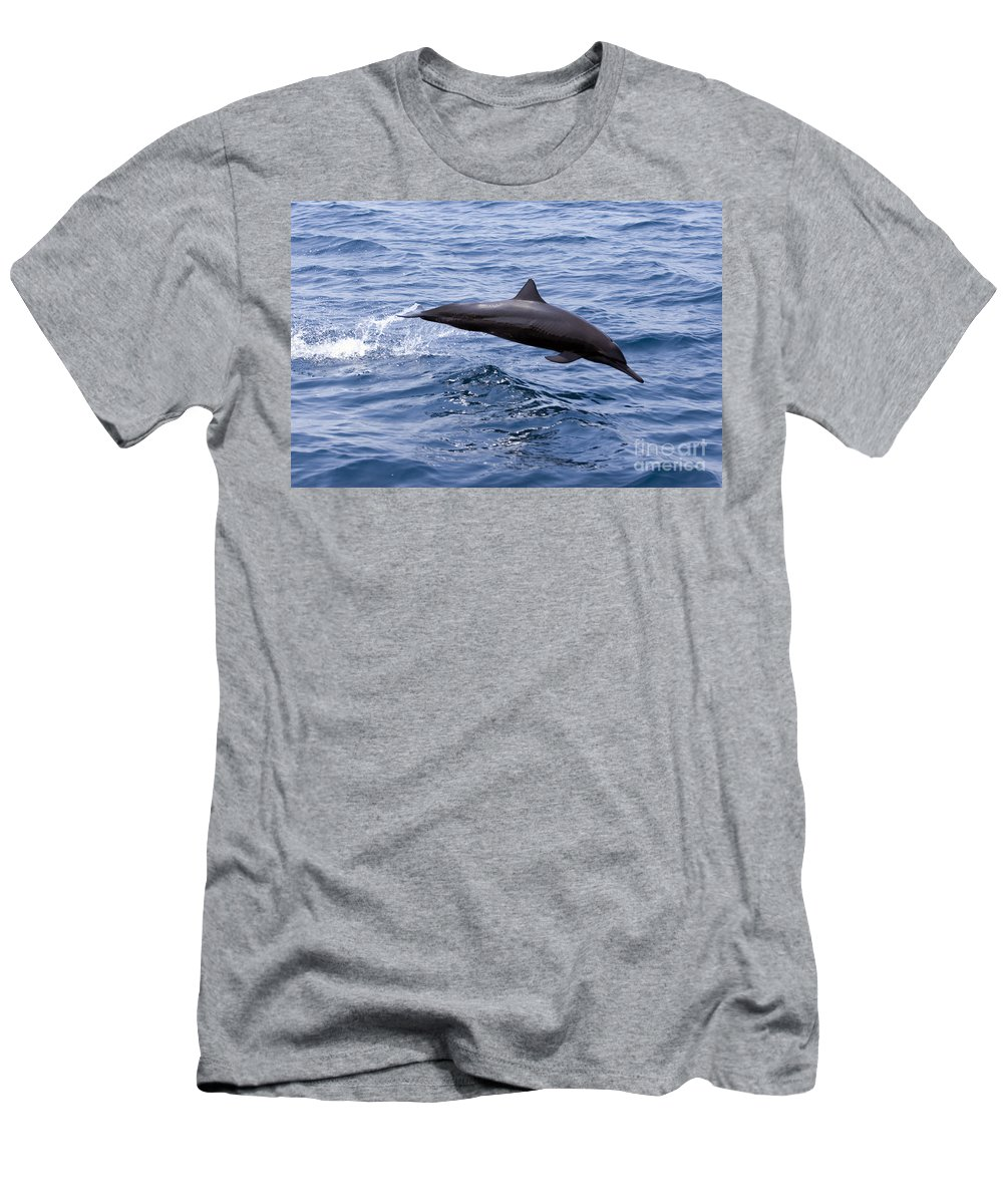 Amaze Men's T-Shirt (Athletic Fit) featuring the photograph Spinner Dolphin by Rick Gaffney - Printscapes