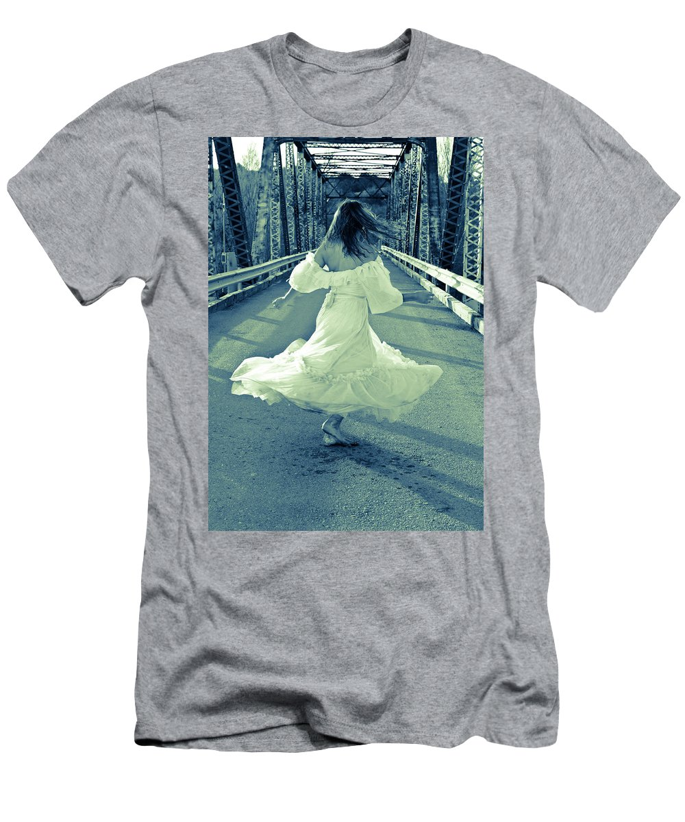 Spinning Men's T-Shirt (Athletic Fit) featuring the photograph Spinning by Scott Sawyer