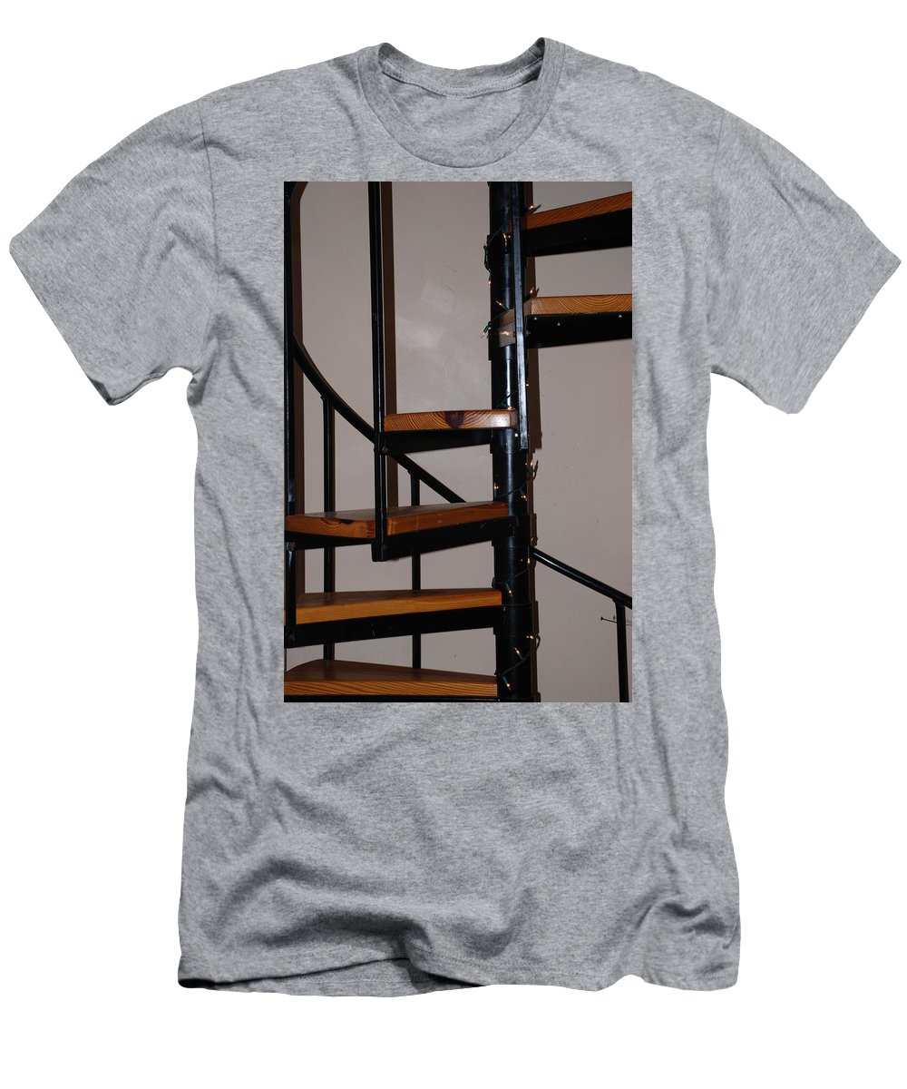 Stairs Men's T-Shirt (Athletic Fit) featuring the photograph Spiral Stairs by Rob Hans