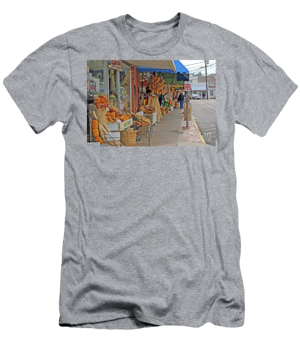 Greek Men's T-Shirt (Athletic Fit) featuring the photograph Sponge Market by Jost Houk