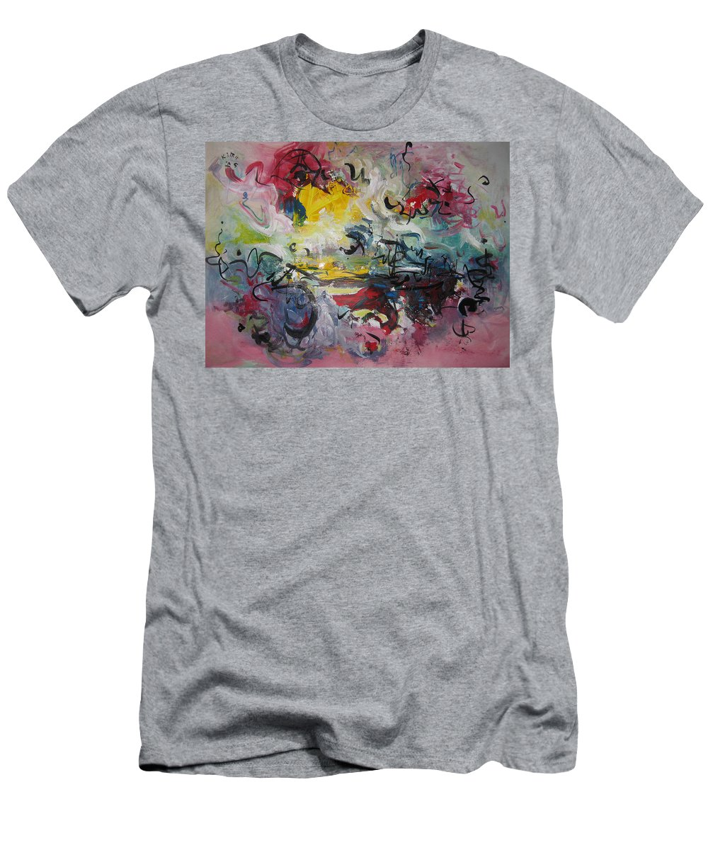 Painting Men's T-Shirt (Athletic Fit) featuring the painting Spring Fever38 by Seon-Jeong Kim