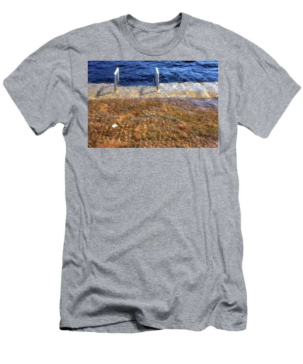 Spring Men's T-Shirt (Athletic Fit) featuring the photograph Spring Flood by Lyle Crump