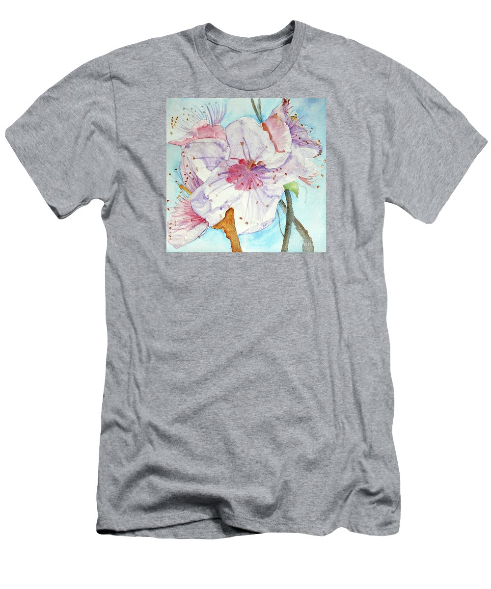 Spring Flower Men's T-Shirt (Athletic Fit) featuring the painting Spring by Jasna Dragun