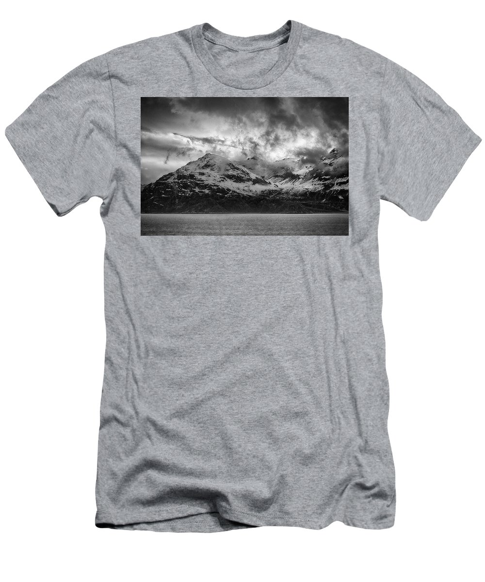 Glacier Men's T-Shirt (Athletic Fit) featuring the photograph Spring On Glacier Bay by Hugh Smith