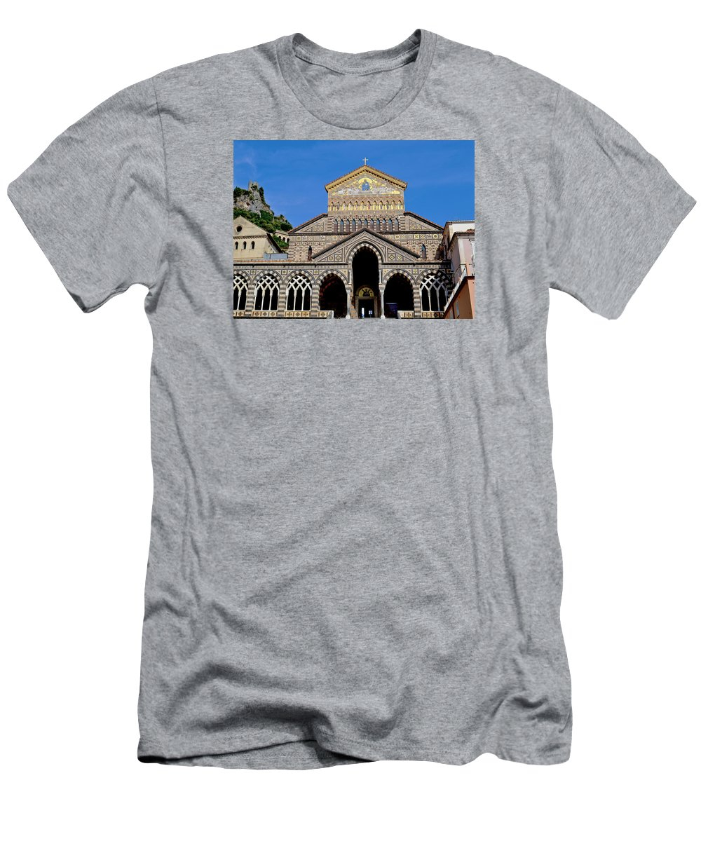 St Andrews Men's T-Shirt (Athletic Fit) featuring the photograph St Andrews Cathedral In Amalfi by Jeffrey Hamilton