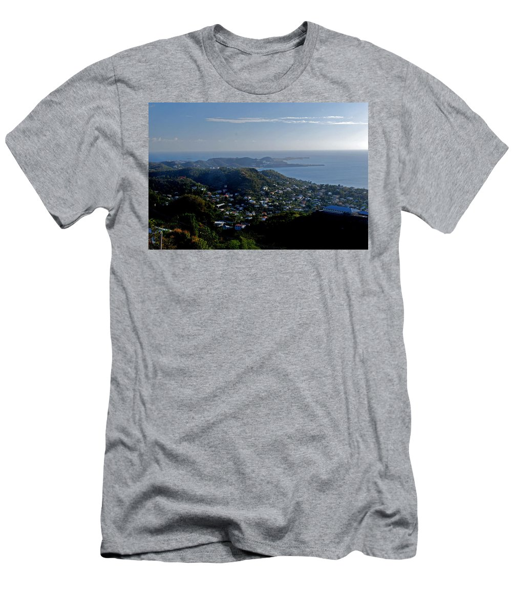Sunset Men's T-Shirt (Athletic Fit) featuring the photograph St. George's Grenada by Gary Wonning
