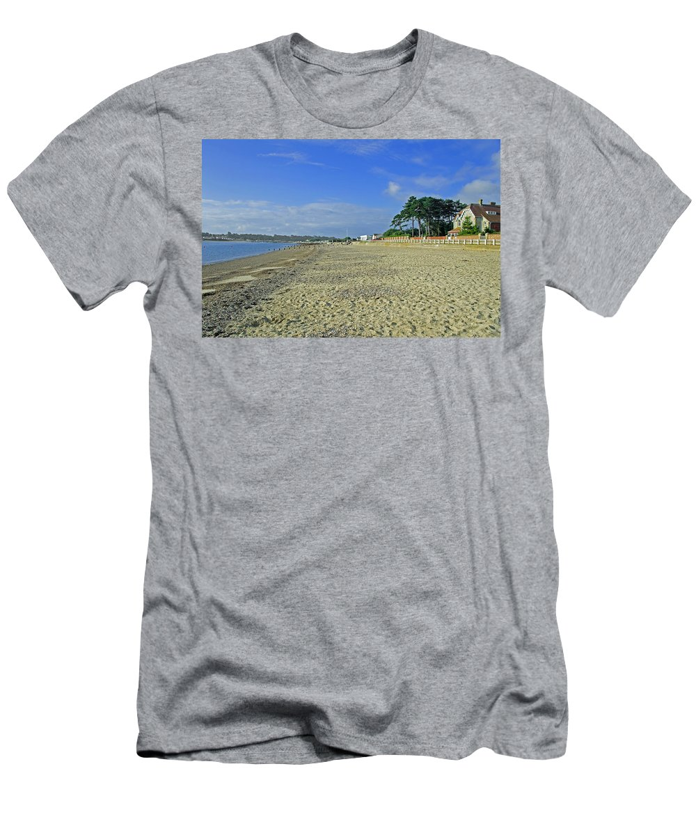 St Helens Men's T-Shirt (Athletic Fit) featuring the photograph St Helens Beach by Rod Johnson
