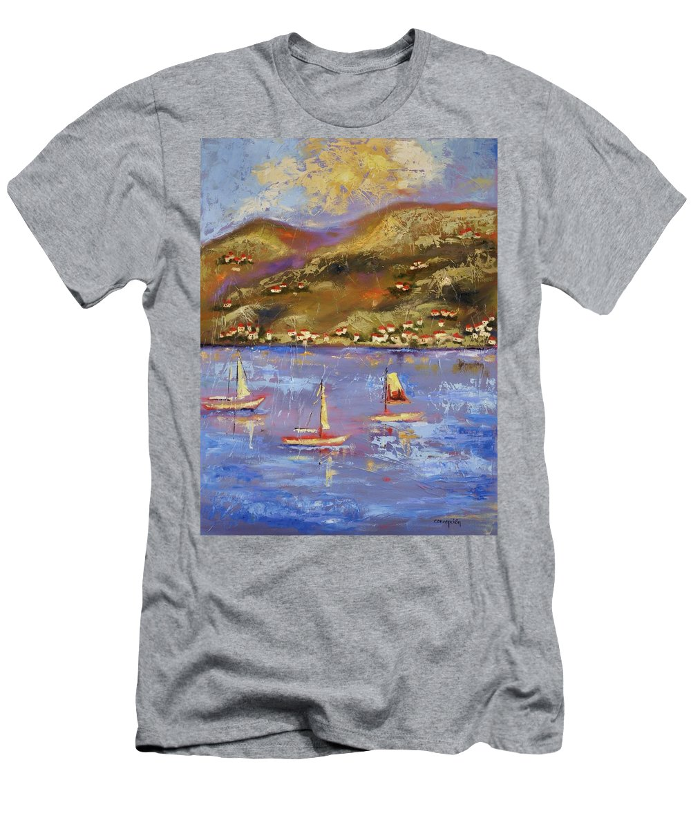 St. John Men's T-Shirt (Athletic Fit) featuring the painting St. John Usvi by Ginger Concepcion