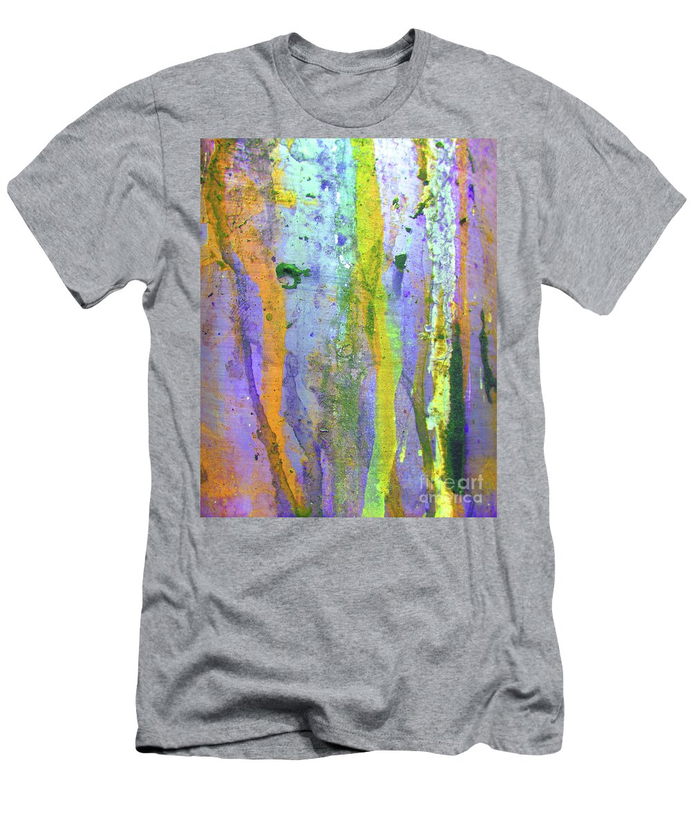 Abstract Men's T-Shirt (Athletic Fit) featuring the photograph Stains Of Paint by Carlos Caetano
