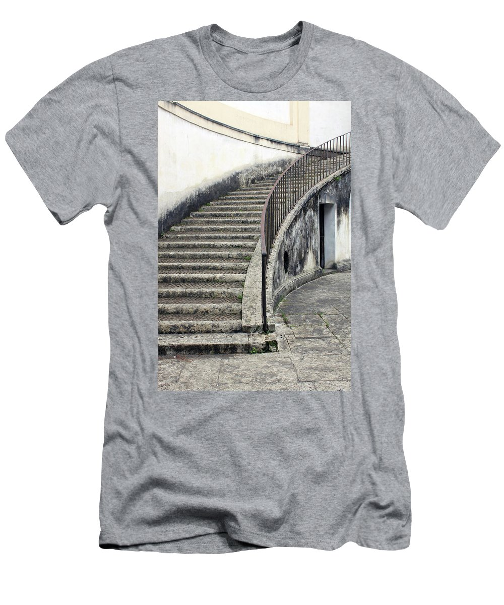 Stair Men's T-Shirt (Athletic Fit) featuring the photograph Stairs To Underground by Munir Alawi
