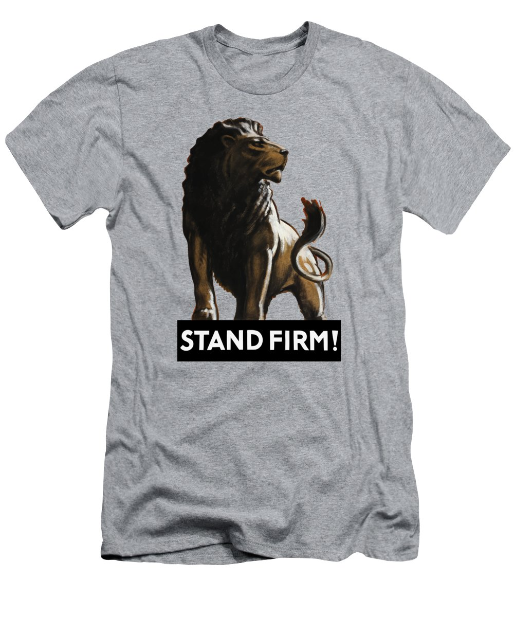 Stand Firm Lion Ww2 T Shirt For Sale By War Is Hell Store