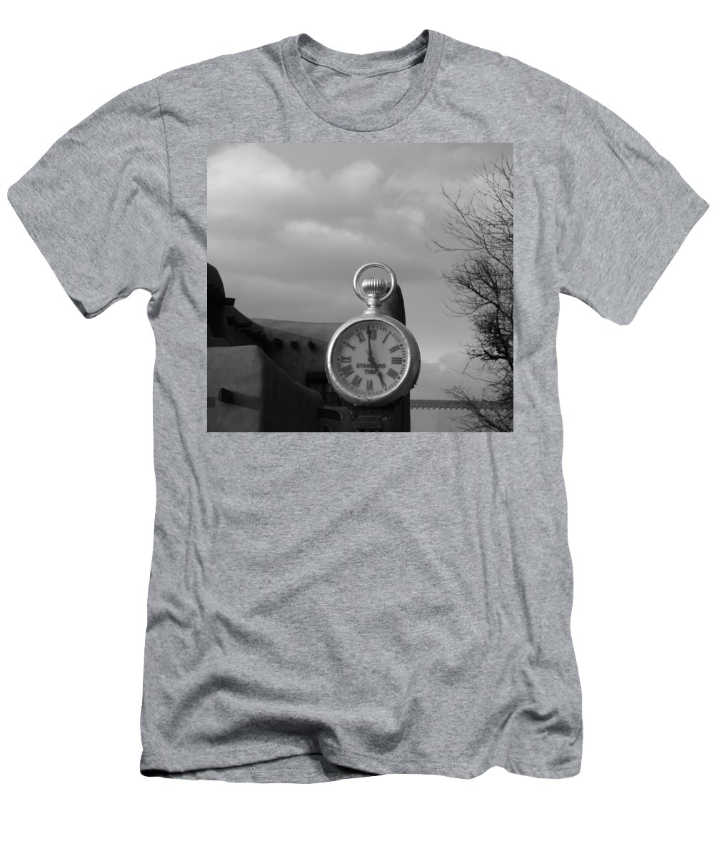Black And White Men's T-Shirt (Athletic Fit) featuring the photograph Standard Time by Rob Hans