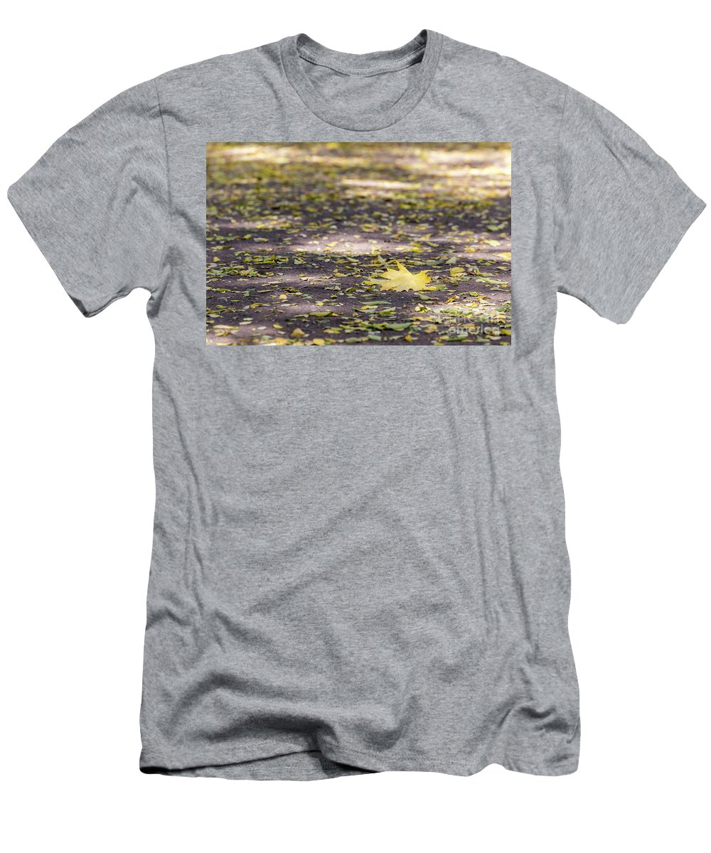 Golden Men's T-Shirt (Athletic Fit) featuring the photograph Standing Out From The Crowd by Nikolay Stoimenov