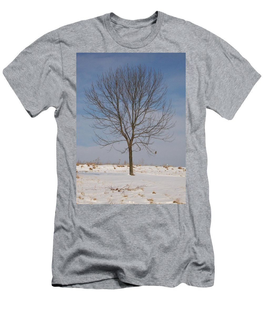 Tree Men's T-Shirt (Athletic Fit) featuring the photograph Standing Tall by Sara Raber