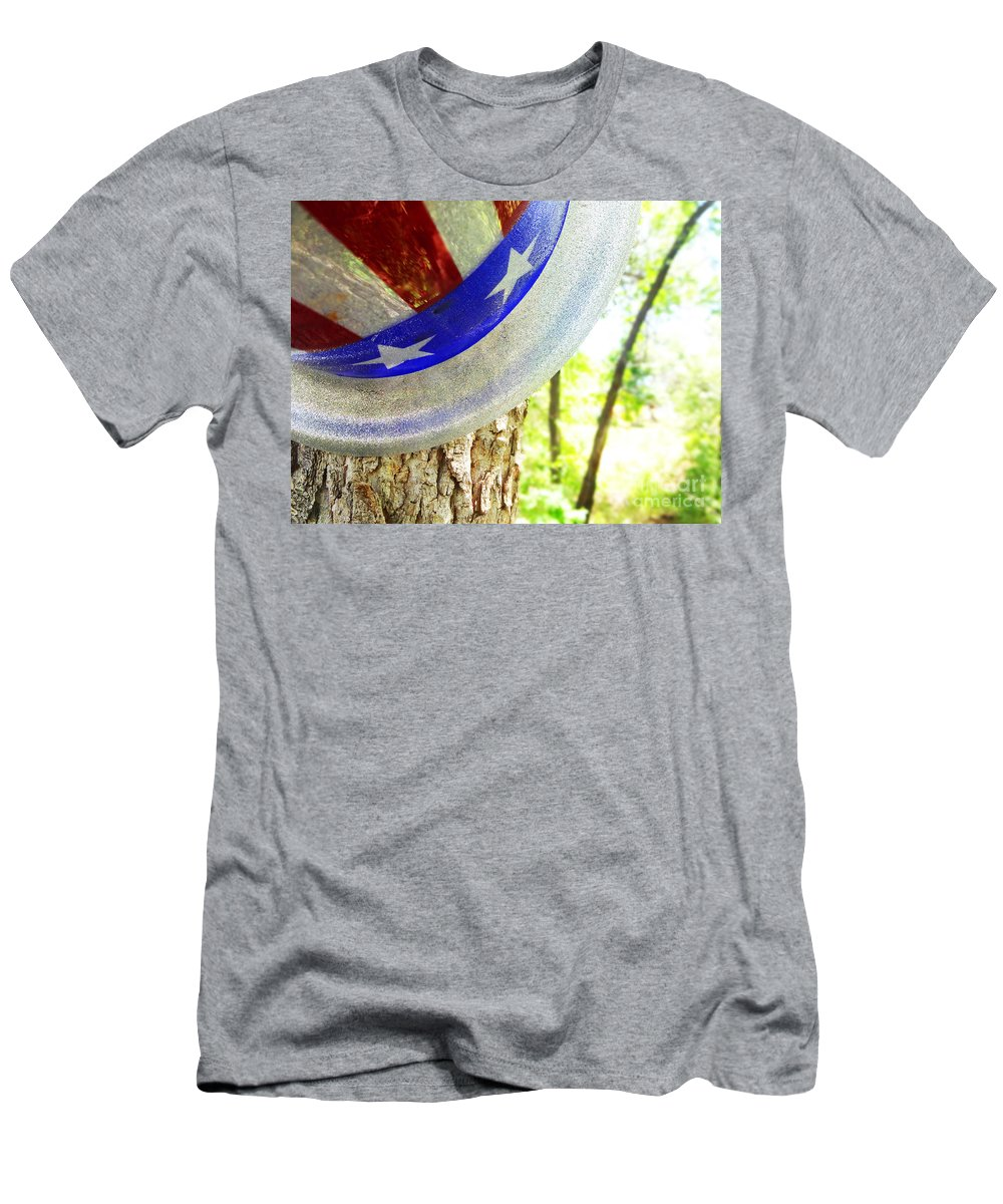 Tree Men's T-Shirt (Athletic Fit) featuring the photograph Star Spangled Hat by Korynn Neil