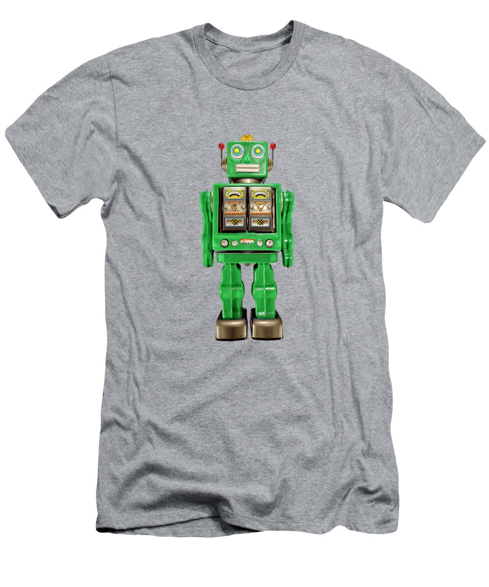 Classic Men's T-Shirt (Athletic Fit) featuring the photograph Star Strider Robot Green by YoPedro