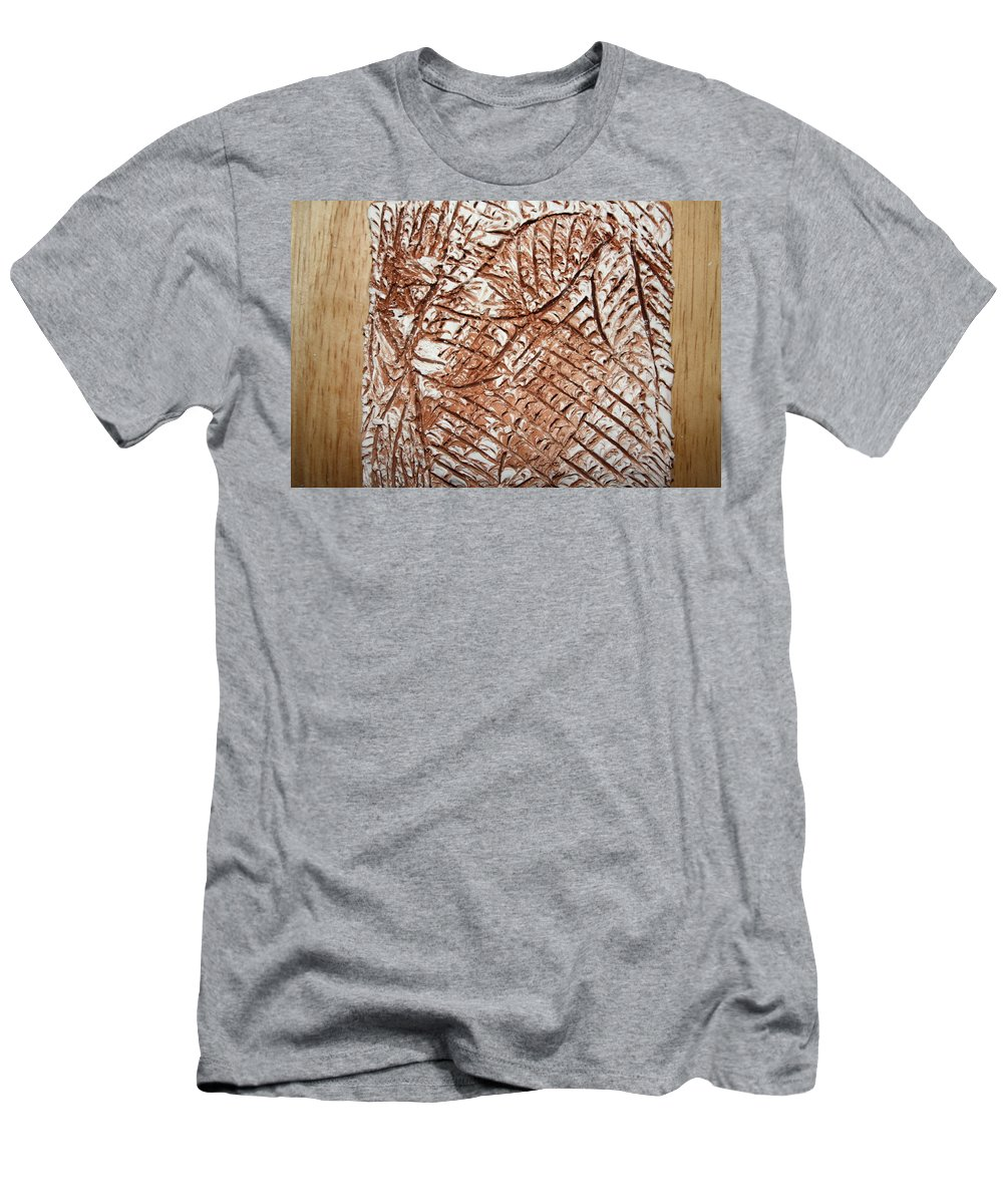 Jesus Men's T-Shirt (Athletic Fit) featuring the ceramic art Stares - Tile by Gloria Ssali
