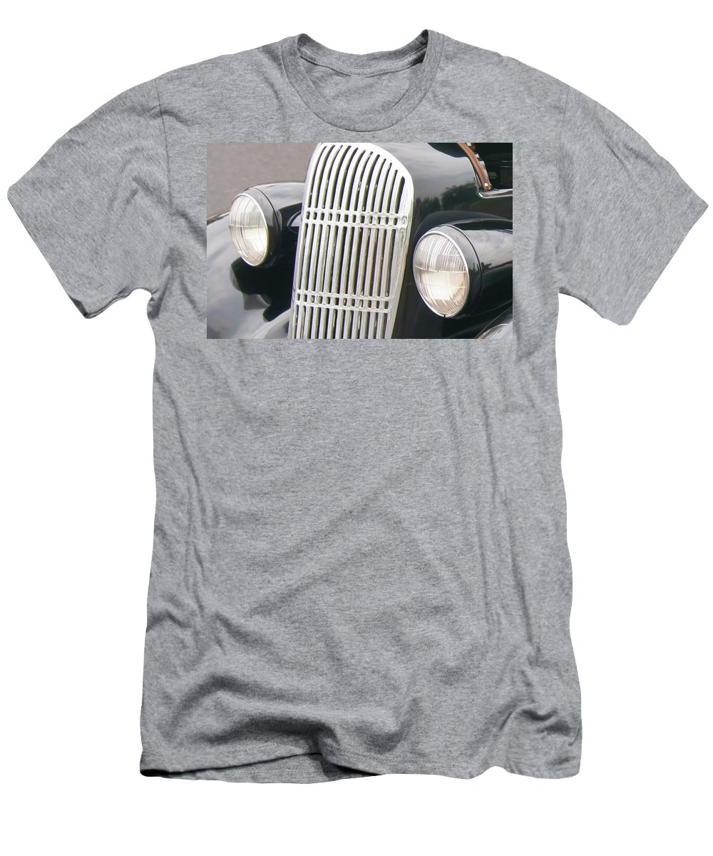 Antique Car Men's T-Shirt (Athletic Fit) featuring the photograph Staring 1998 by Guy Whiteley