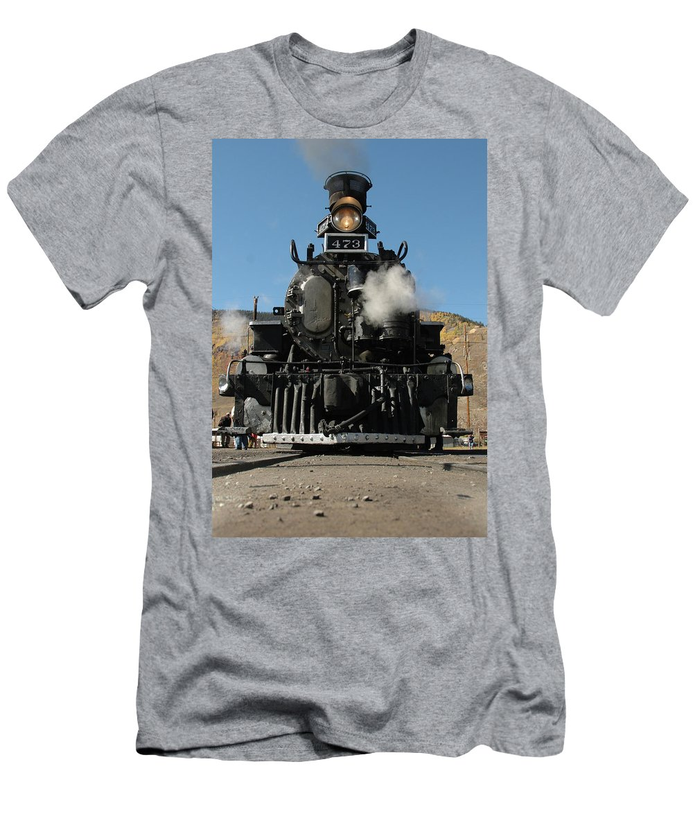 Steam Men's T-Shirt (Athletic Fit) featuring the photograph Steam Power by Jerry McElroy