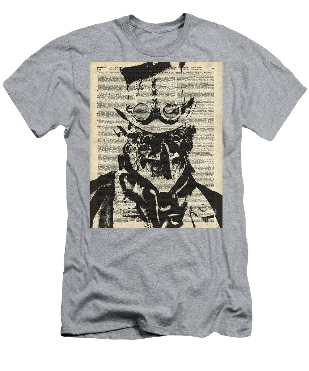 Steampunk Men's T-Shirt (Athletic Fit) featuring the digital art Steampunk Guy by Anna W