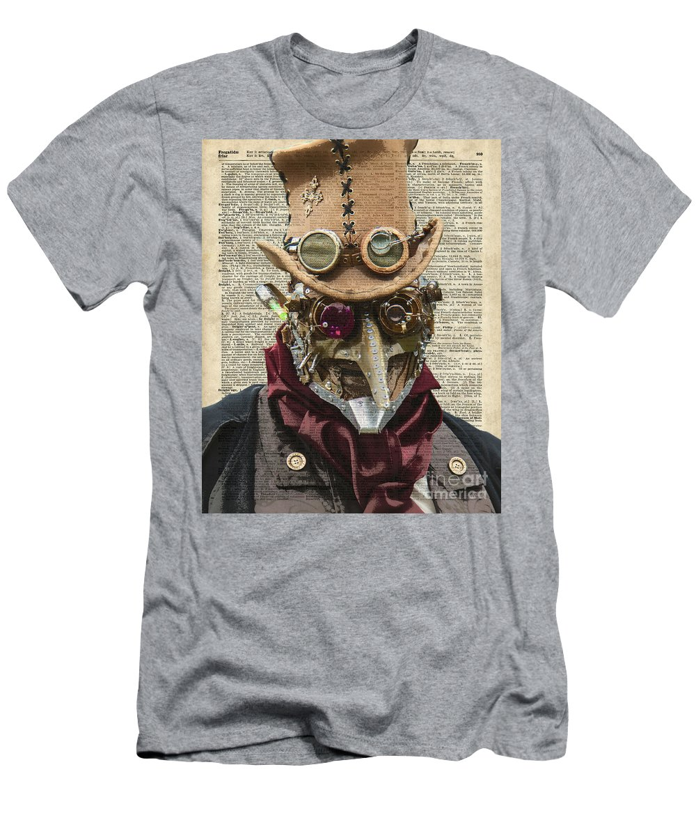 Clockwork Men's T-Shirt (Athletic Fit) featuring the digital art Steampunk Robot by Anna W