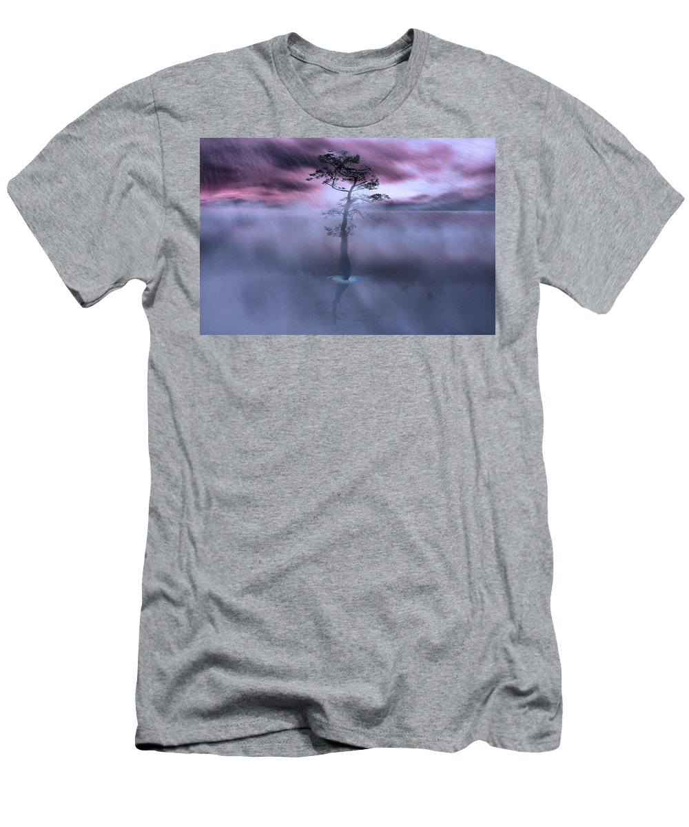 Landscape Men's T-Shirt (Athletic Fit) featuring the photograph Stick Together The Storm Will Pass by Gray Artus