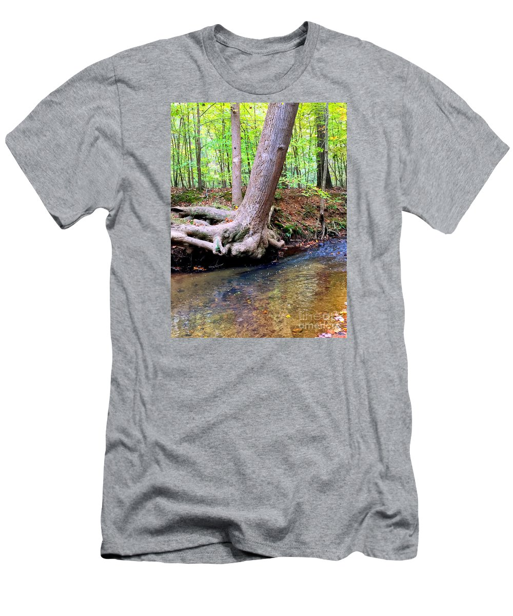Fall Leaves Men's T-Shirt (Athletic Fit) featuring the photograph Still Standing Tree by Rafael Salazar