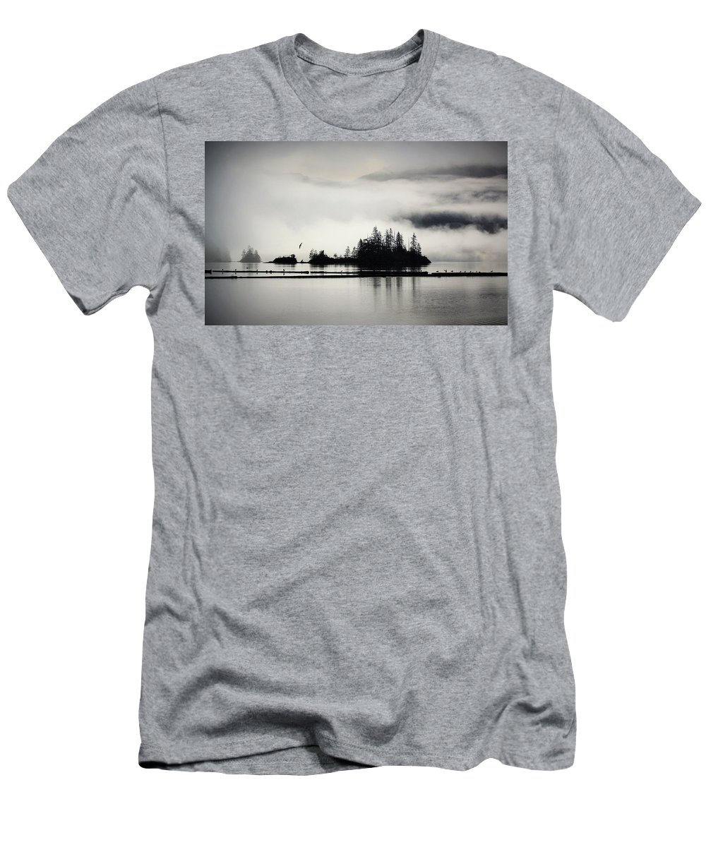 Clouds Men's T-Shirt (Athletic Fit) featuring the photograph Still Waters by Emma Twamley