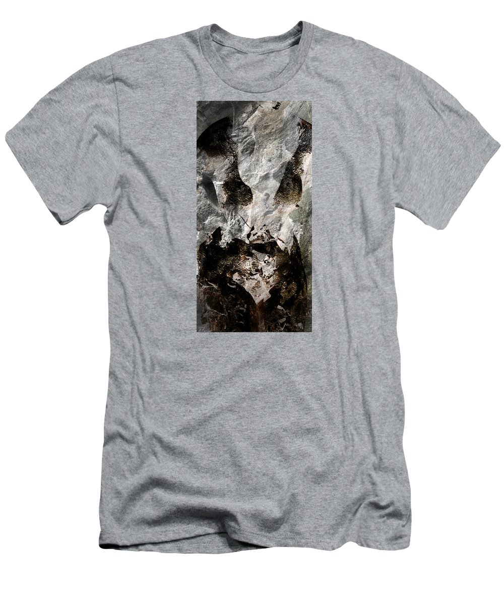 Est�e Lauder Men's T-Shirt (Athletic Fit) featuring the photograph Stone Mask by Jean-Marie Bottequin