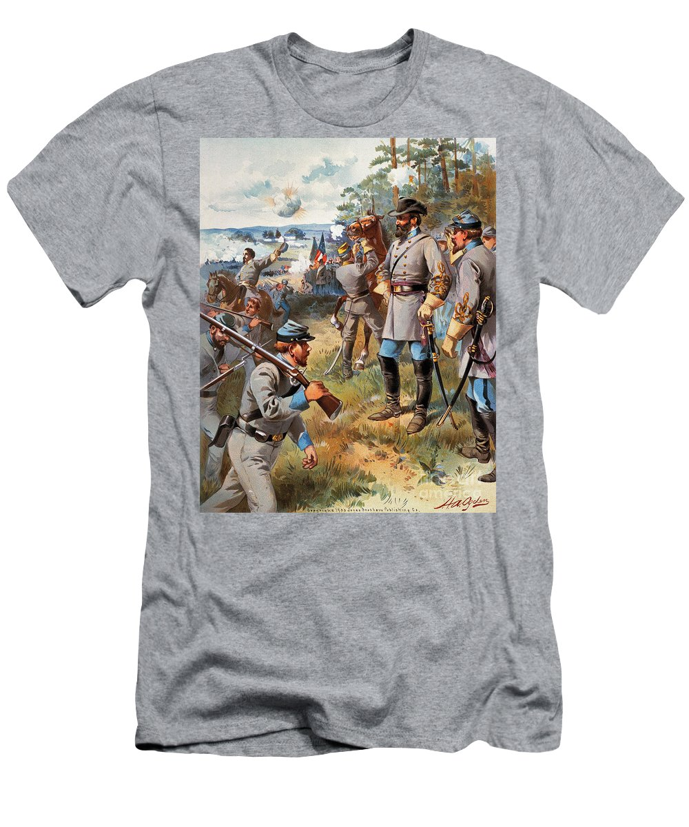 1861 Men's T-Shirt (Athletic Fit) featuring the photograph Stonewall Jackson, 1861 by Granger
