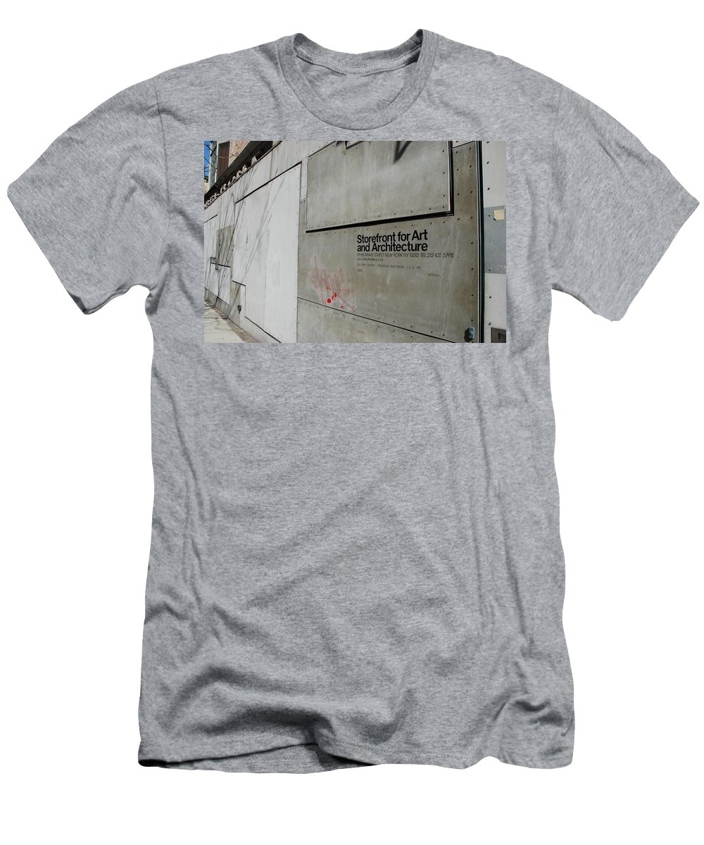Storefront Men's T-Shirt (Athletic Fit) featuring the photograph Storefront For Art And Architecture by Rob Hans