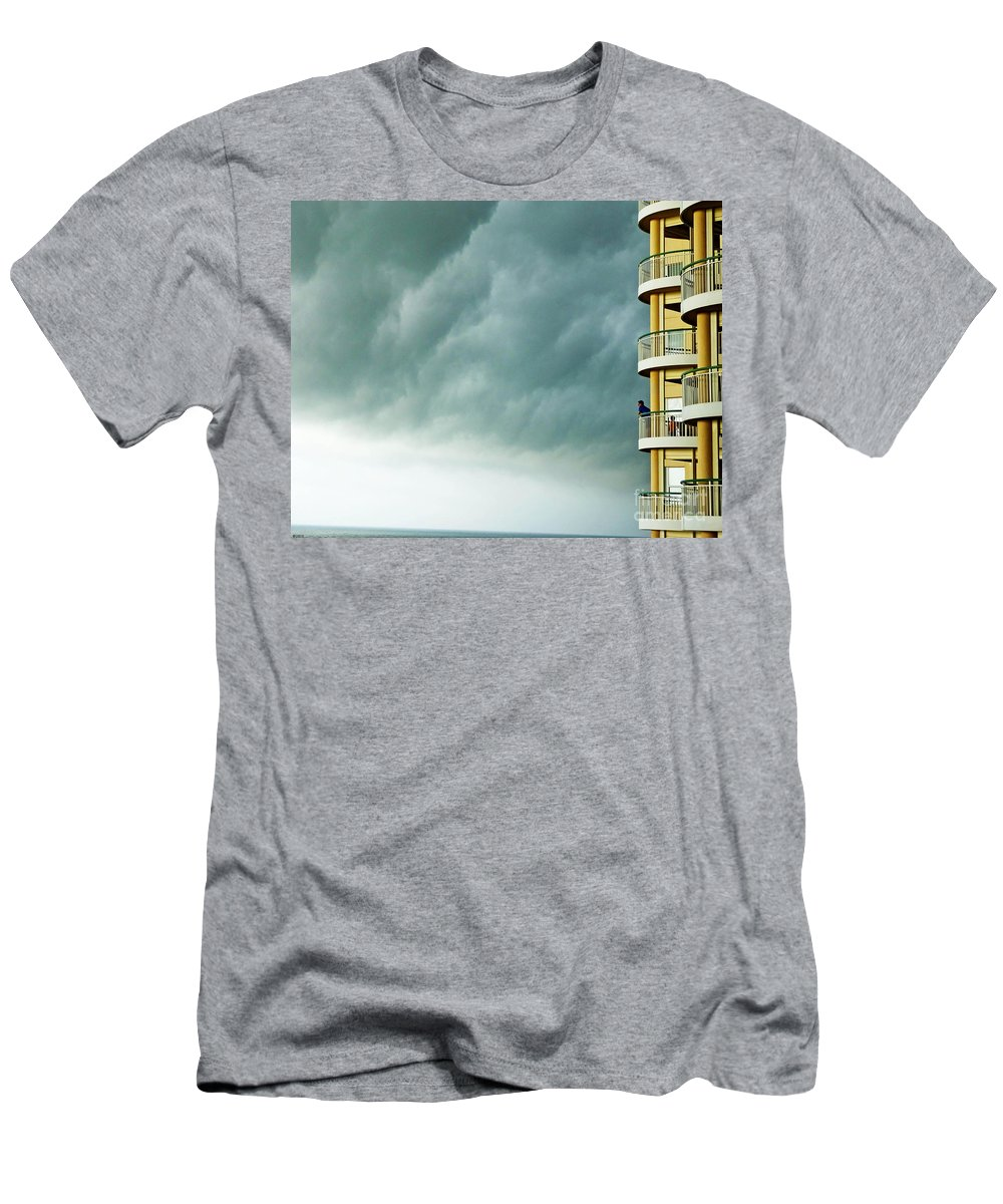 Vacation Men's T-Shirt (Athletic Fit) featuring the photograph Storm Watchers At Perdido Key Fl by Lizi Beard-Ward