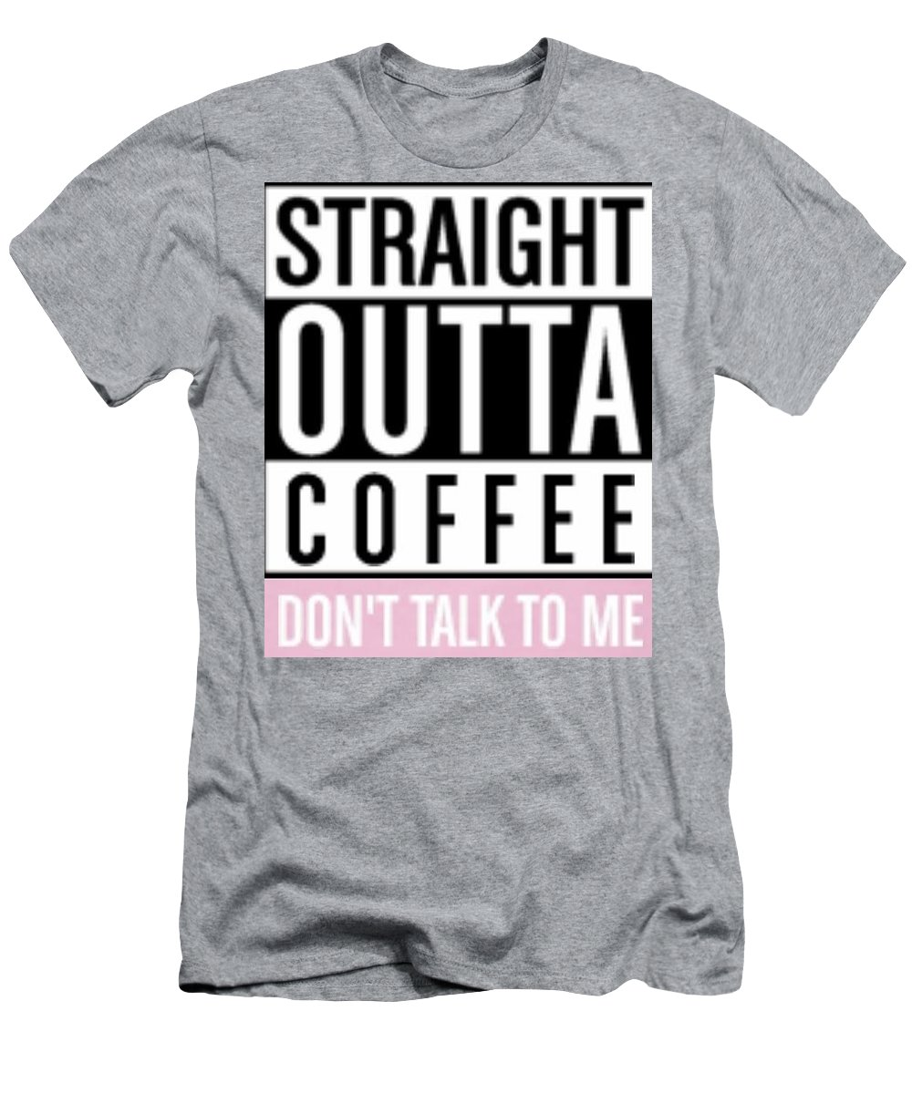 Men's T-Shirt (Athletic Fit) featuring the digital art Straight Outta Coffee by Kiersten Hillard